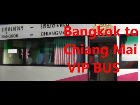 Bangkok to Chiang Mai VIP bus Via Ayuthaya 2013