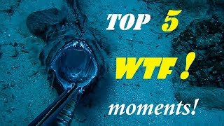 Spearfishing 🇬🇷  😲TOP 5 WTF moments📹CAUGHT on VIDEO ✅