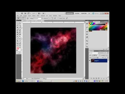 Photoshop Tutorial - How To Create a nebula, lens flare, star twinkle, and supernova with Photoshop