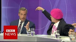 Eddie Izzard vs Nigel Farage on immigration - BBC News