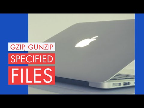 gzip: Compress and Uncompress a File on a MAC OSX