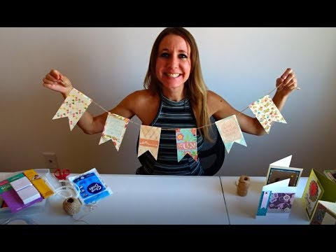 How to make a party bunting banner.  She's craft, she's just my type!