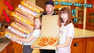 WE DELIVERED EVERY PIZZA TO OUR HOUSE!!