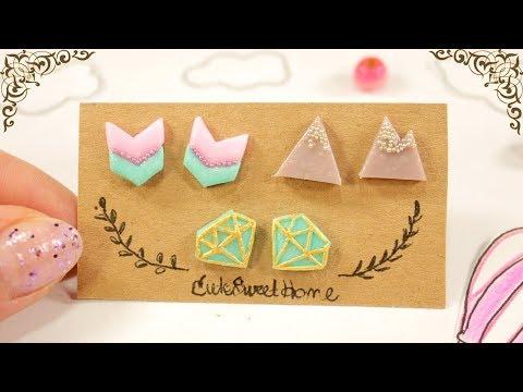 3 AMAZING DIY Earrings || Stud Earrings