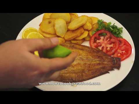 Dover Sole Easy Recipe British English cooking Lemon fish lime fried chips