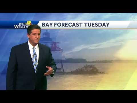 Chance of shower Monday evening, temps in 60s