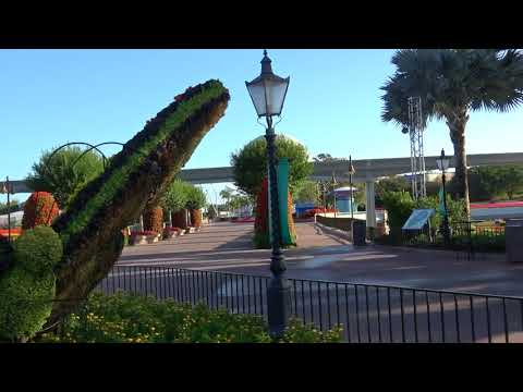 Walking From Boardwalk Resort to EPCOT Early in the Morning!