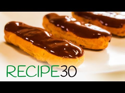 How to make Chocolate Eclairs - The Classic French Chocolate Custard pastry