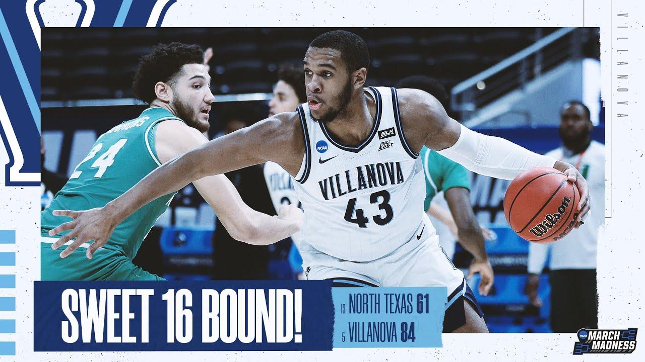 Villanova vs. North Texas - Second Round NCAA tournament extended highlights