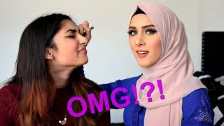 5 Minute MAKEUP CHALLENGE Ft. My SISTER