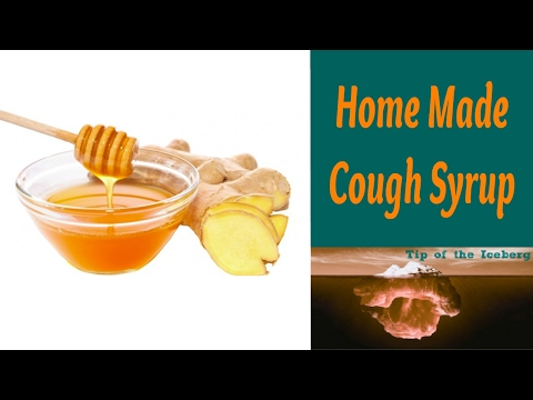 Ginger Root Cough Syrup Cold relief - made with Lemon Ginger and Honey 🍯