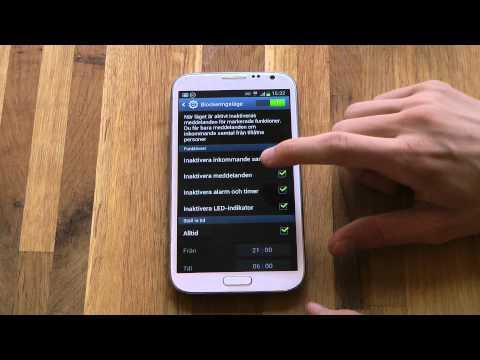 Samsung Galaxy Note 2 - Blocking Mode