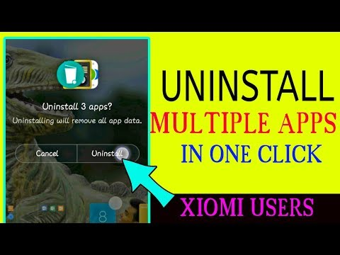 Uninstall Multiple Apps At Once In Single Click [Xiomi Redmi Users] (HINDI/URDU)