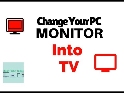 Change your pc monitor into TV