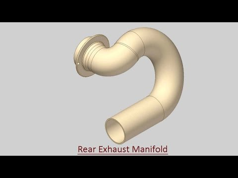 Rear Exhaust Manifold (Video Tutorial) Autodesk Inventor