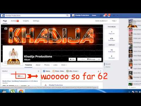 how to get 10,000 + more real likes on facebook fan page | khadija productions
