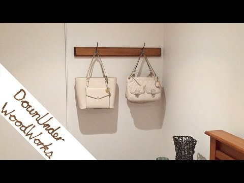How to make a simple coat rack/bag rack
