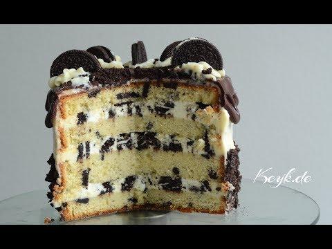 Triple Oreo Sponge Cake - Keyk.de English - How to make an Oreo Cake with cream cheese frosting