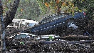 RAW: Mudslide devastation in California