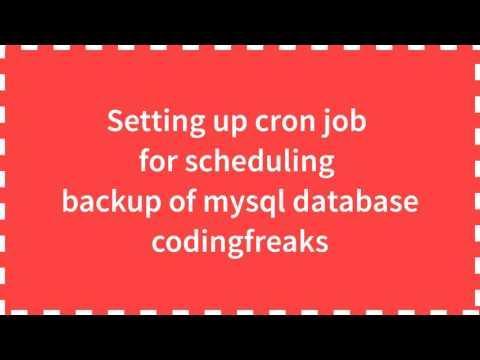 How to periodically backup MySQL Automatically
