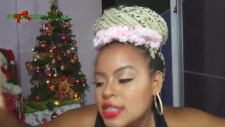Penteado Coque Com Tranças Box Braids Para Natal / Ano Novo .
