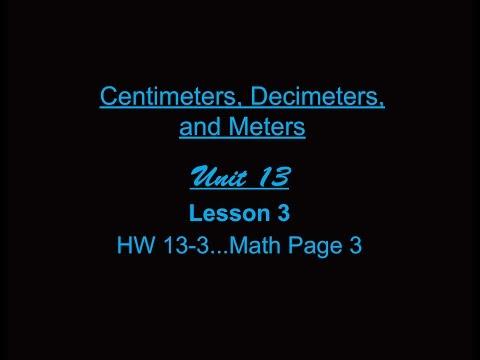 Lesson 3: Centimeters, Decimeters, and Meters