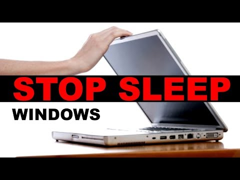 Stop your Laptop from going to Sleep Mode when lid is closed 2018 [Windows 10]