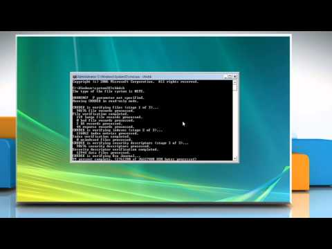How to run a Disk Check in Windows Vista using the Command Prompt