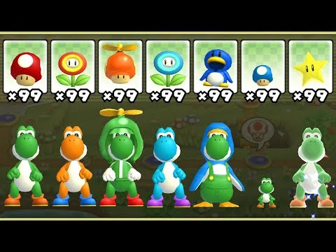 New Super Mario Bros. Wii - All Yoshi Power-Ups