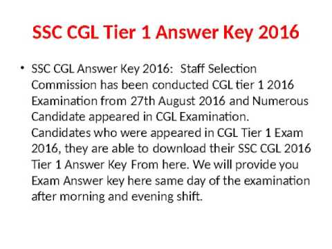 SSC CGL Tier II Results 2016 Declared, CGL Cut Off Marks 2016, SSC CGL Marks 2016