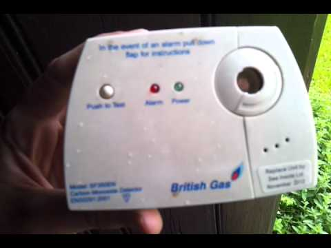 How to stop your British Gas 'Carbon Monoxide Detector' from beeping all the time!