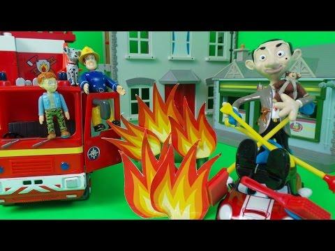 Fireman Sam Full Episode - Mr BEAN BBQ Fire on Dilys Birthday