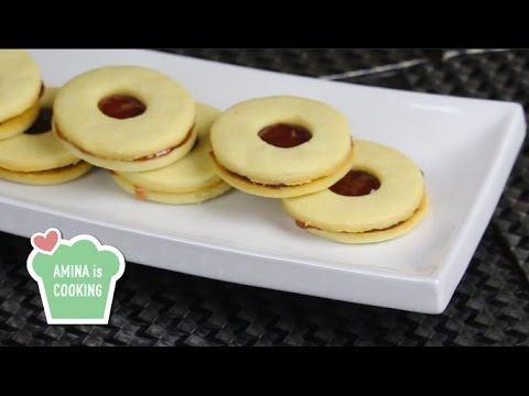 Strawberry Linzer Cookies - Episode 93 - Amina is Cooking