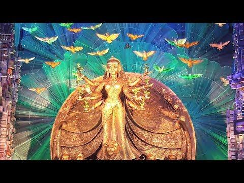 Tridhara Durga Puja 2017 - Theme based durga puja depicting nature
