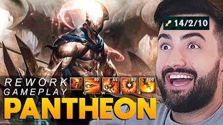 REWORK PANTHEON GAMEPLAY! *A RIOT ACERTOU 100%, TÁ MUITO FORTE!* - League of Legends