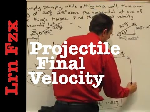 Projectile Finding Final Velocity Given Time