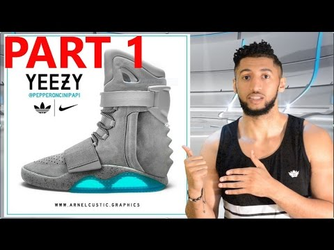 HOW TO MAKE: Yeezy Boost 750 x Nike Air MAG | Tutorial Part 1