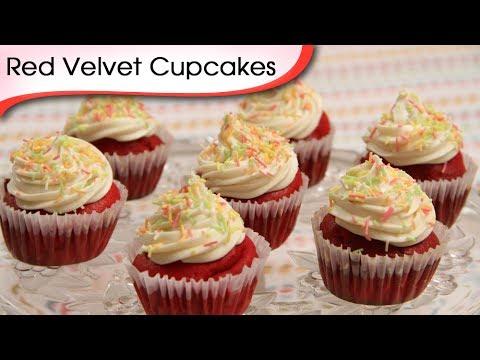 Red Velvet Cupcakes - Easy To Make Homemade Cupcake Recipe By Ruchi Bharani