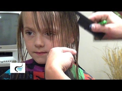 How To Cut:  Hairstyles with Bangs On Little Girls Haircut Tutorials
