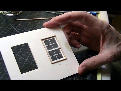 Basic Model Window Scratchbuilding