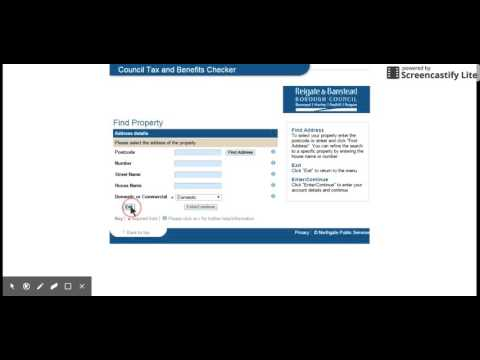 Video tutorial for the council tax and benefits checker