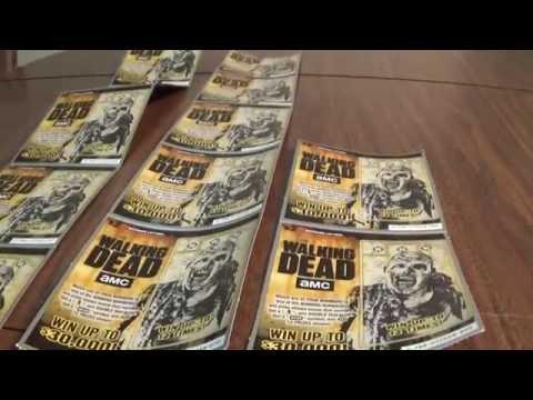The Walking Dead New Lottery Ticket!! We Got A Walker/Zombie!! Michigan Lottery 2016