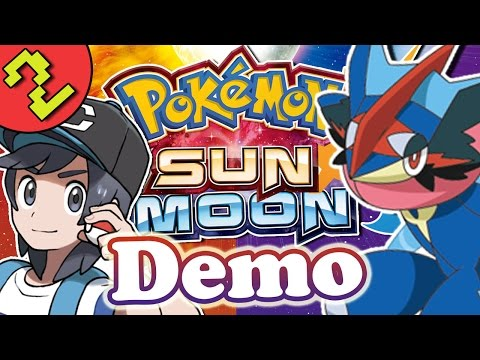 Let's Play Pokemon Sun and Moon Demo Gameplay Part 2 - Ash Greninja & Pikachu Z-Move!