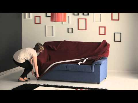 How to Put a Stretch Sofa Cover Easily