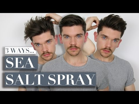 3 Ways To Use Sea Salt Spray | Men's Hair