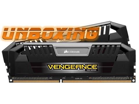 Corsair Vengeance Pro Series 8GB 2x 4GB 1600MHz Memory PC3 12800 DDR3L DRAM Unboxing