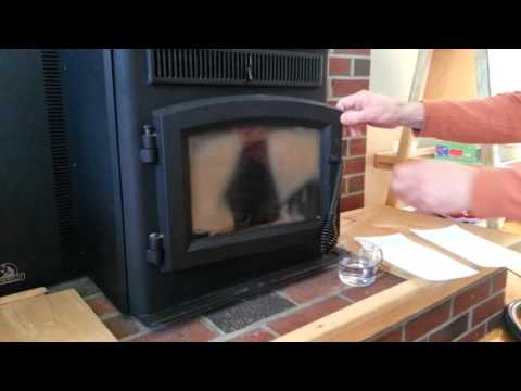 How to clean a pellet stove glass