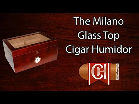 The Milano Glass Top Cigar Humidor