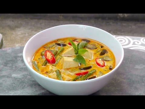 Thai Red Curry with Tofu - Vegan Vegetarian Recipe