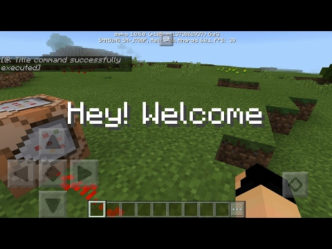 How to get text on screen in mcpe 1.0.5| Command Block Creation